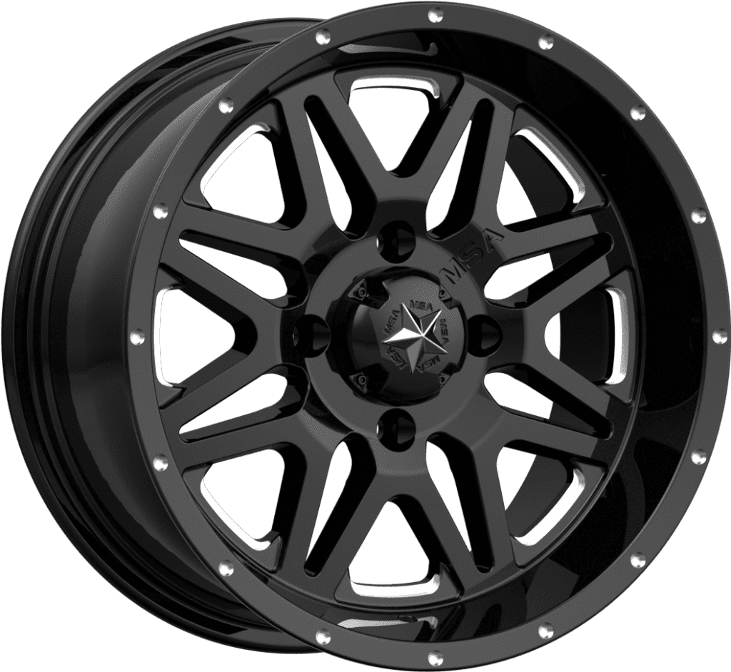 MSA M26 Vibe R14x7, 4x137, +0 mm, (Milled Gloss Black) - диск колесный