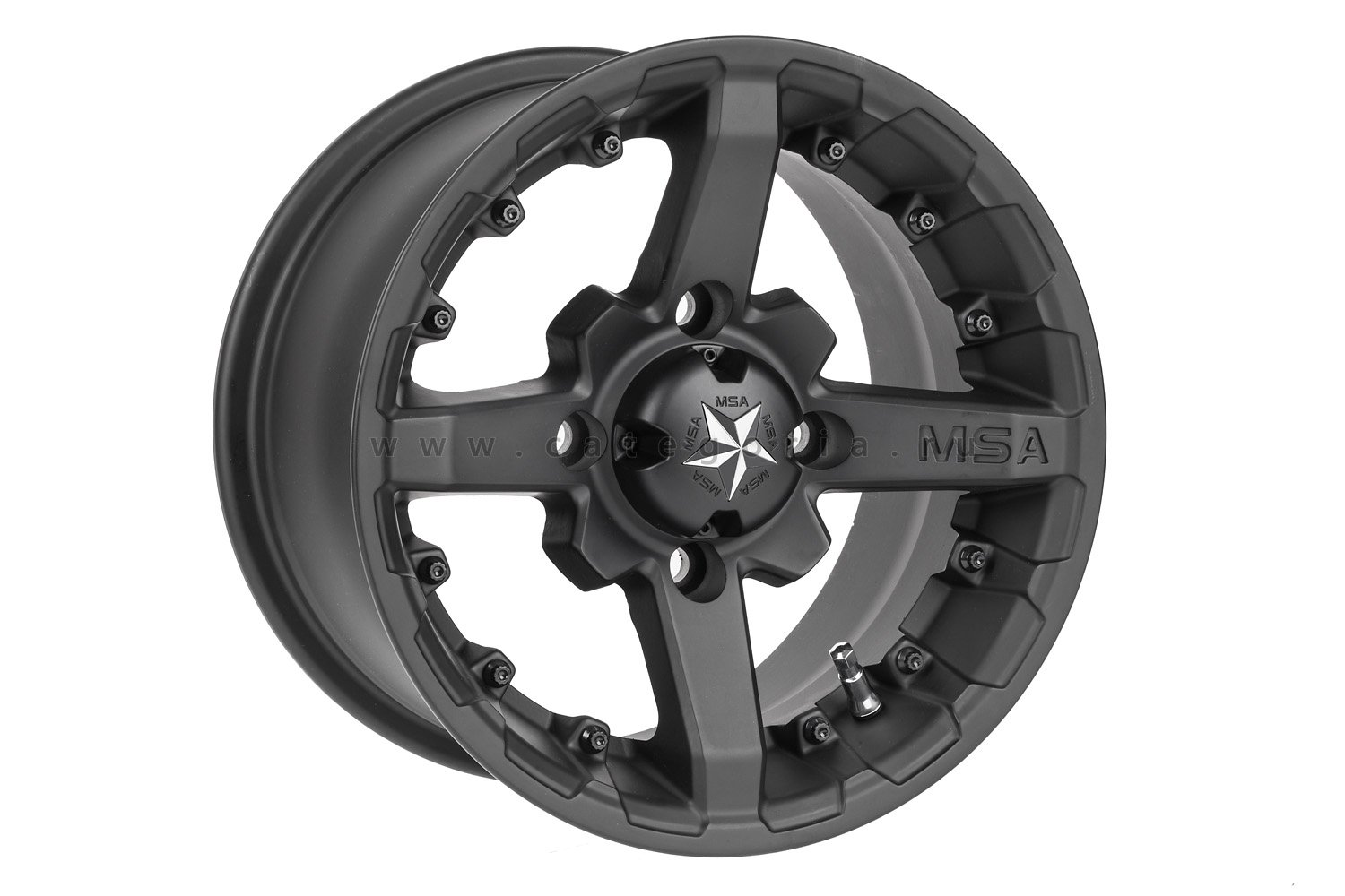 MSA M23 R14x7, 4x110, +10 mm, Battle (Flat Black) - диск колесный