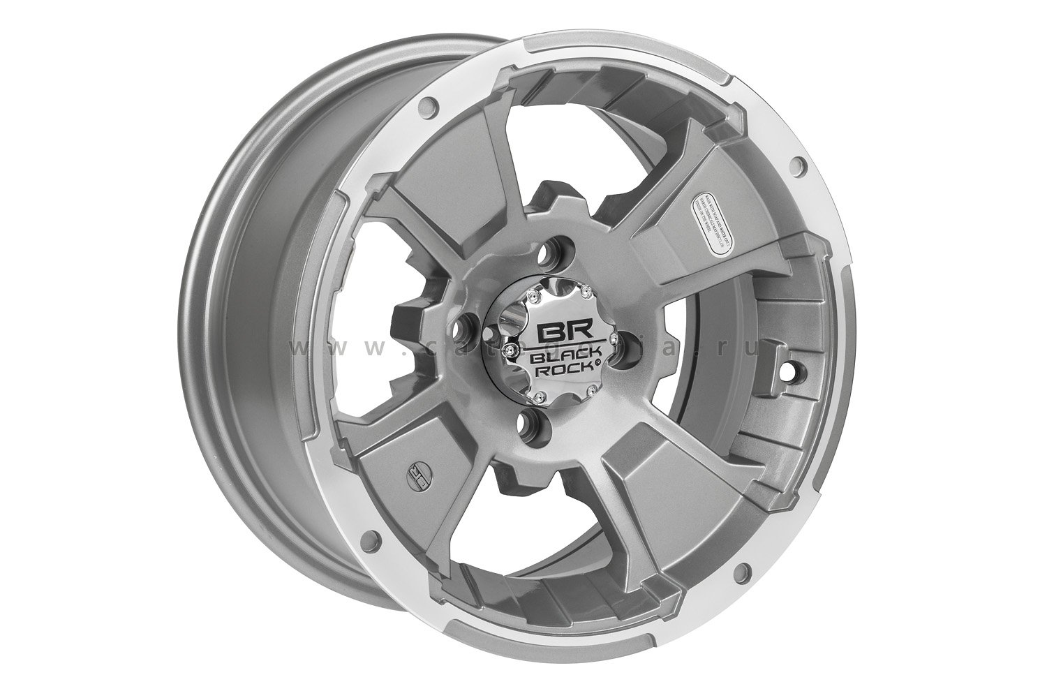 Carlisle Black-Rock Intruder R14x7, 4x110, 5+2 Machined - диск колесный