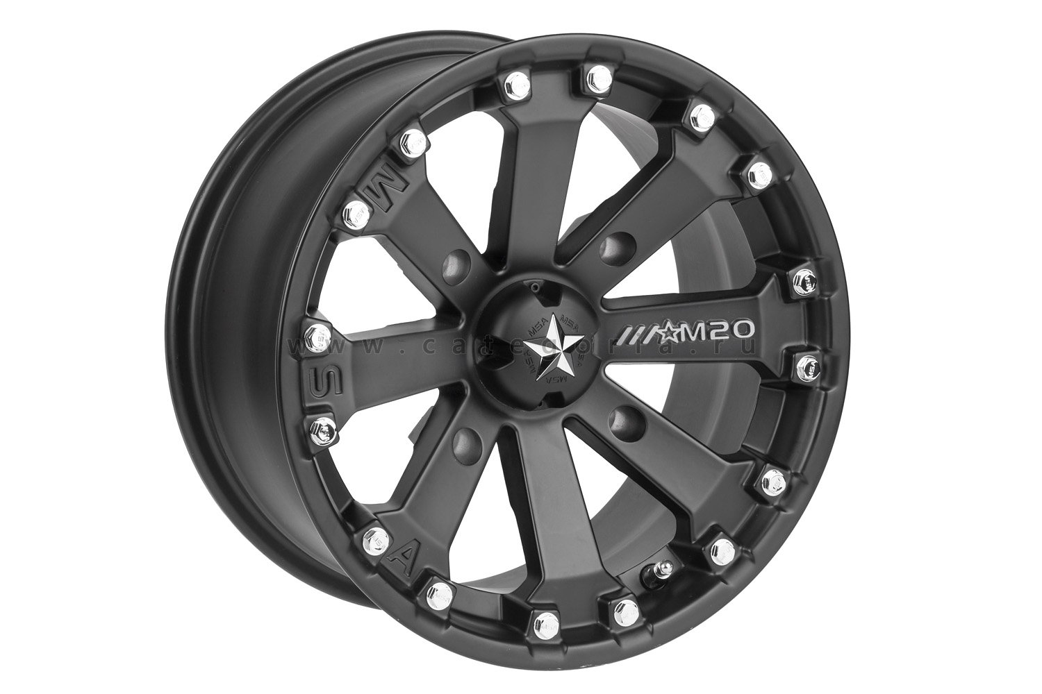 MSA M20 R14x7, 4x110, +0mm Kore Black - диск колесный