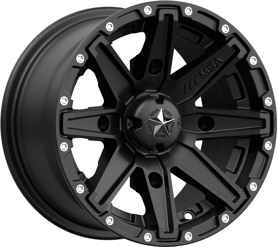 MSA M33 Clutch R14x7, 4x137, +0 mm (Satin Black) - диск колесный