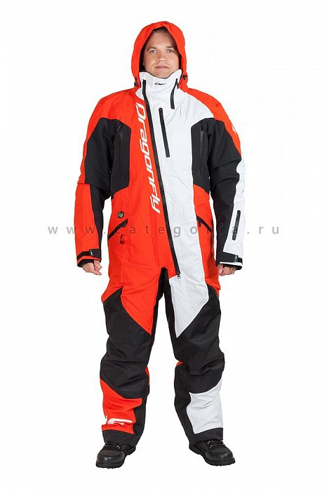 Комбинезон Dragonfly Extreme Red-White, размер XL, 820200-213-XL