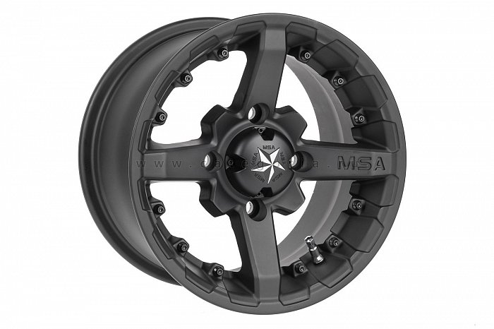 MSA M23 R14x10, 4x156, +0 mm, Battle (Flat Black) - диск колесный