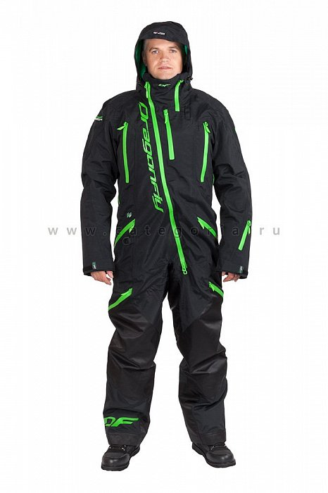 Комбинезон Dragonfly Extreme Black-Green, размер XL, 2018, 820200-337-XL