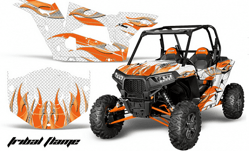 AMR Racing Tribal Flame - комплект наклеек для Polaris RZR 1000