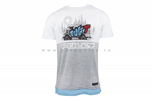Футболка FullT ICE CREAM, White/Gray, 2XL