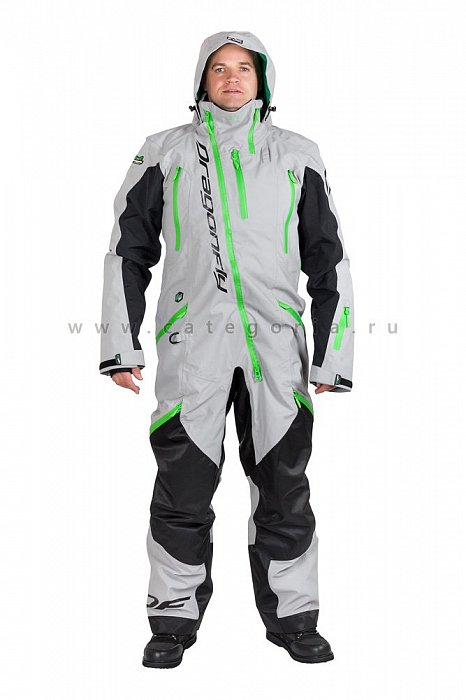 Комбинезон Dragonfly Extreme Green-Silver, размер L, 820200-997-L