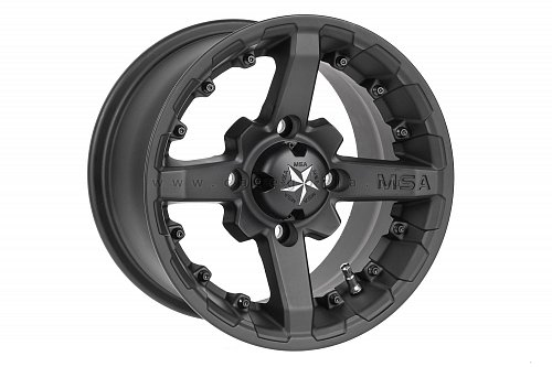 MSA M23 R12x7, 4x156 +15 mm, Battle (Flat Black) - диск колесный