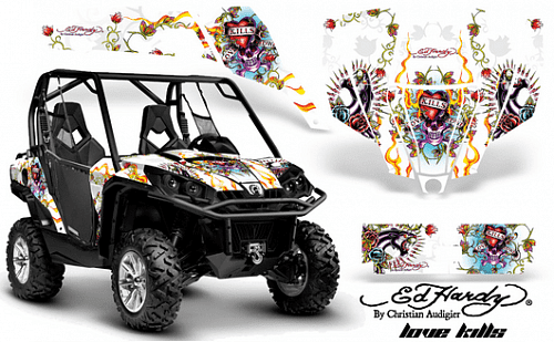 AMR Racing Ed Hardy Love Kills - комплект наклеек для BRP Can-Am Commander