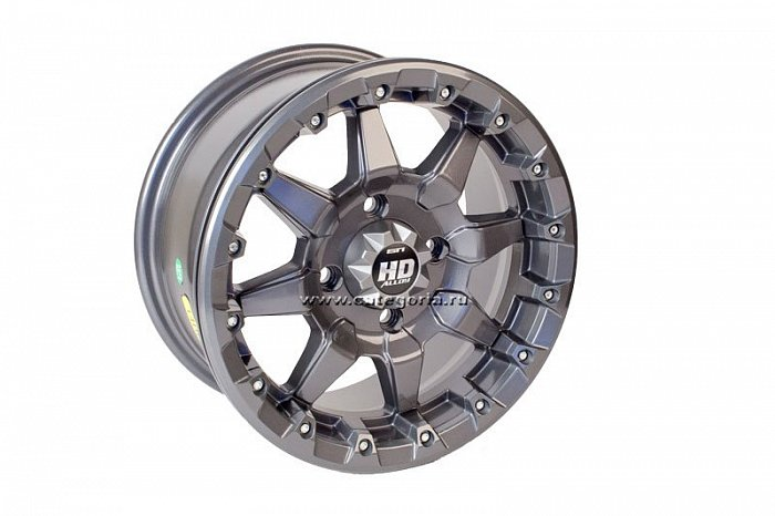 STI HD5 Beadlock R14x7, 4x110, +10 mm, Gun Metal Gray 14HB510 - диск колесный